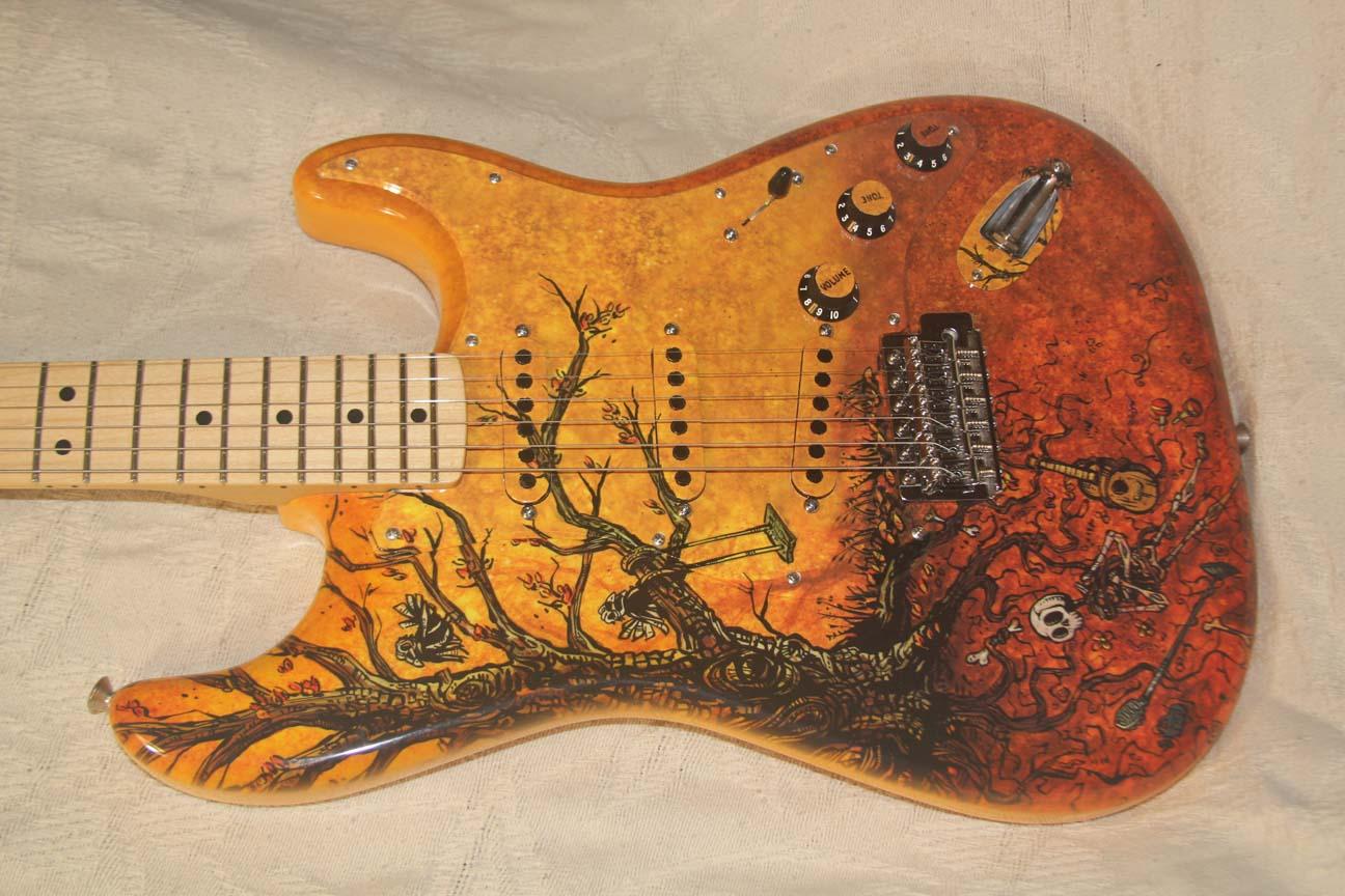 David Lozeau Tree Of Life Modded Fender Strat New